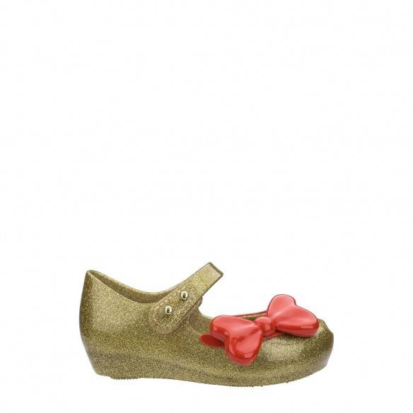 Mini Melissa Ultragirl Snow White Glitter Gold Red