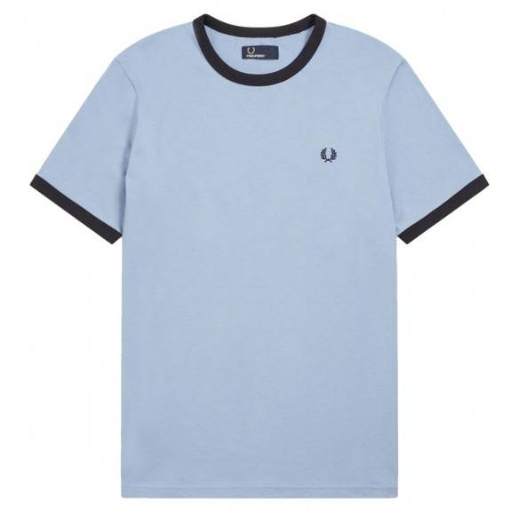 Fred Perry Ringer T-Shirt Sky
