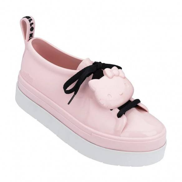 Melissa Sapatilhas Be + Hello Kitty Pink White Black