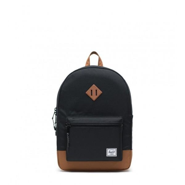 Herschel Backpack Heritage Youth XL Black Saddle Brown