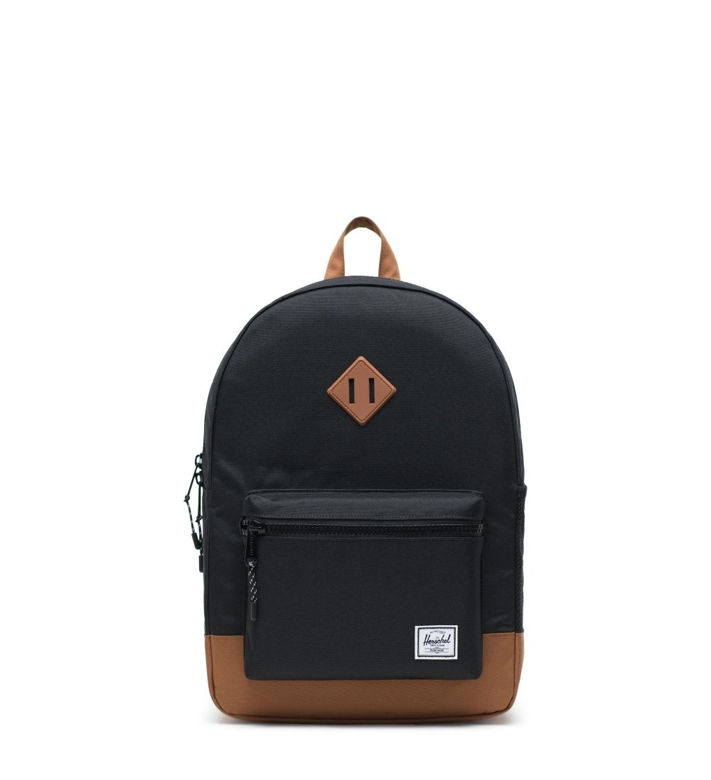 371c660e186 Herschel Backpack Heritage Youth XL Black Saddle Brown - Mau Feitio