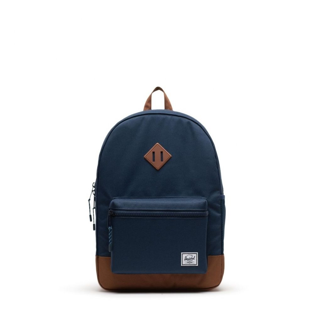 Herschel Backpack Heritage Youth XL Navy Saddle Brown