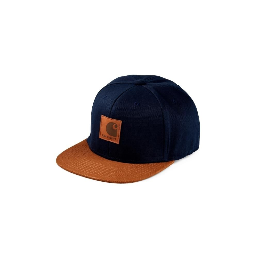 Carhartt Logo Cap Bi-Colored Dark Navy Hamilton Brown