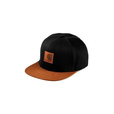 Carhartt Boné Logo Bi-Colored Black Hamilton Brown