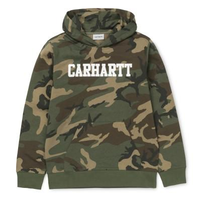 Carhartt Hooded College Sweatshirt Camo Laurel