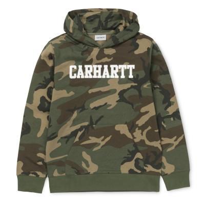 Carhartt Hooded College Sweatshirt Camo Laurel