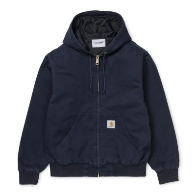 Carhartt Casaco Active Dark Navy Rinsed