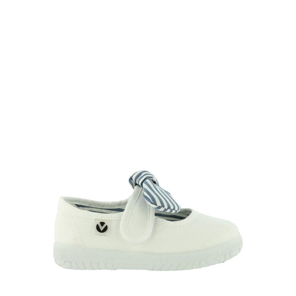 Victoria Ojalá Stripe Bow Baby 05110 Blanco