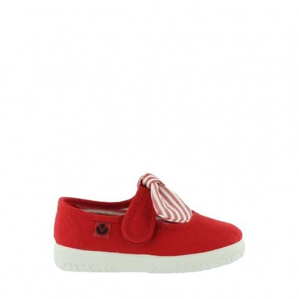Victoria Ojalá Stripe Bow Baby 05110 Rojo