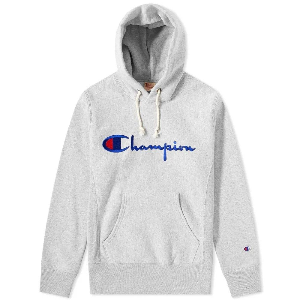 Champion Reverse Weave Hooded Sweatshirt Grey