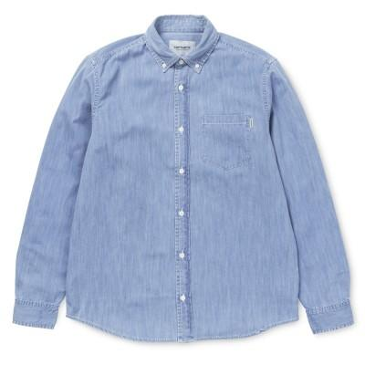 Carhartt Civil Shirt Blue Stone Bleached