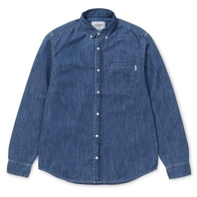 Carhartt Camisa Civil Blue Stone Washed