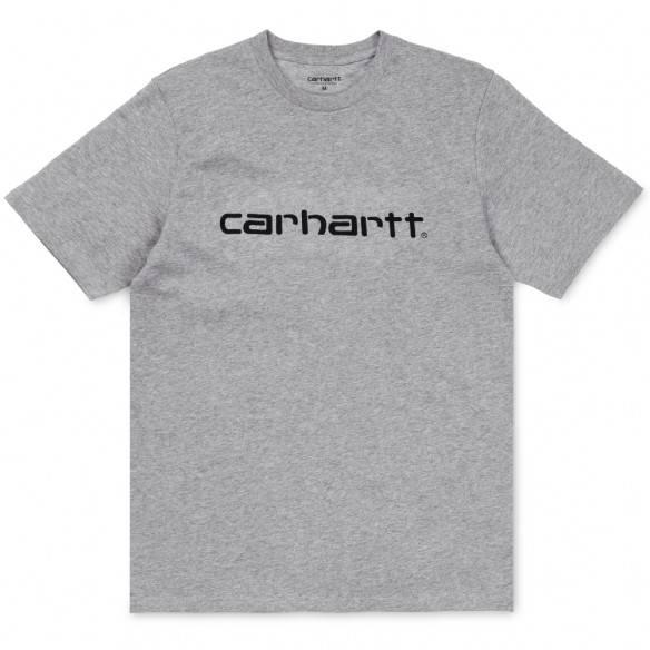 Carhartt Script T-Shirt Grey Heather Black