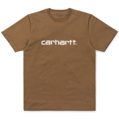 Carhartt Script T-Shirt Hamilton Brown White