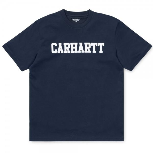 Carhartt College T-Shirt Blue White