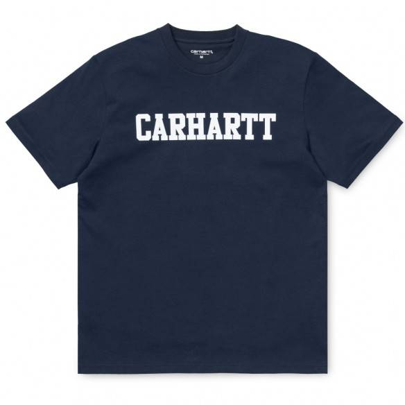 Carhartt T-Shirt College Blue White
