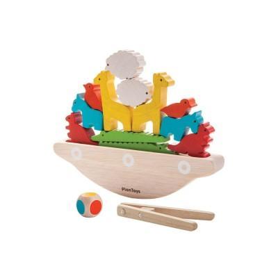 Plan Toys Jogo de Equilíbrio Barco Animais