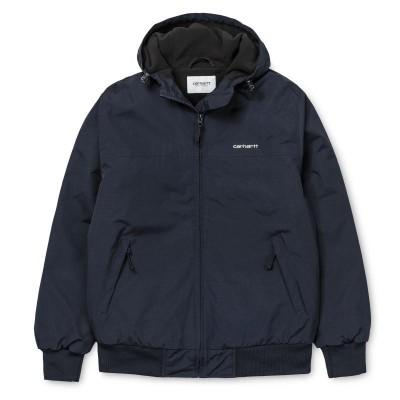 Carhartt Casaco Hooded Sail Dark Navy White