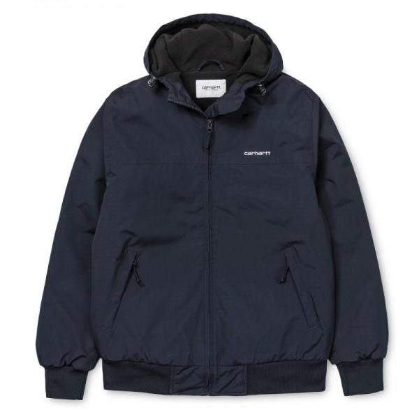 Carhartt Hooded Sail Jacket Dark Navy White