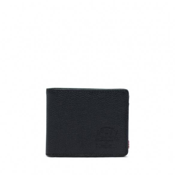 Herschel Hank Wallet Black Pebbled Leather