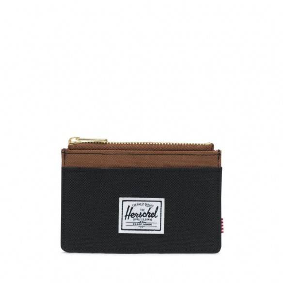 Herschel Oscar Wallet Black Saddle Brown