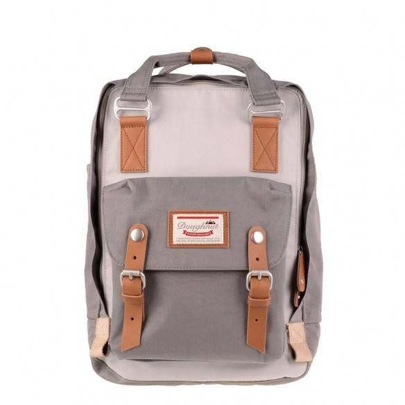 Doughnut Macaroon Backpack Ivory Light Grey