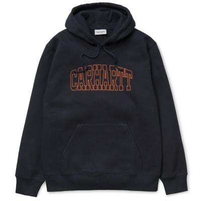 Carhartt Sweatshirt Hooded Theory Embroidery Dark Navy