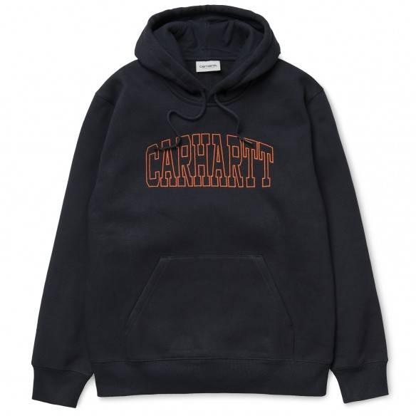 Carhartt Sweatshirt Hooded Theory Embroidery Dark Navy