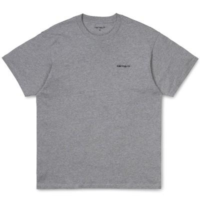 Carhartt Script Embroidery T-Shirt Grey Heather Black