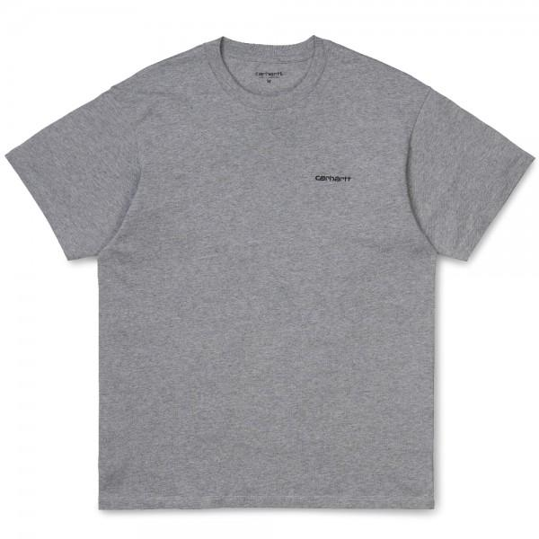 Carhartt Script Embroidery T-Shirt Grey Heather Black