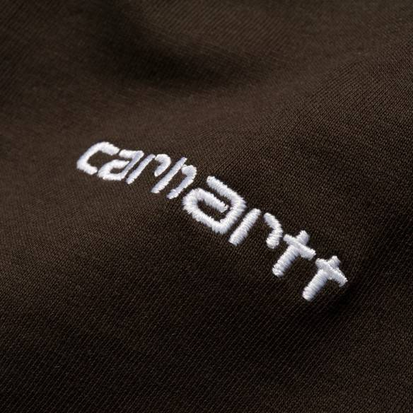 Carhartt Script Embroidery T-Shirt Tobacco White