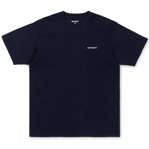 Carhartt Script Embroidery T-Shirt Dark Navy White