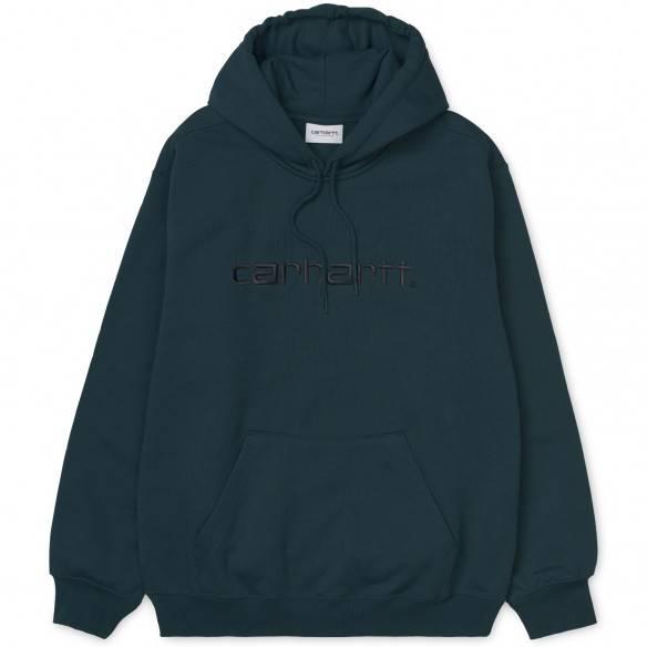Carhartt Hooded Sweatshirt Duck Blue Black