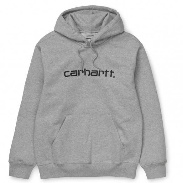 Carhartt Sweatshirt Hooded Grey Heather Black