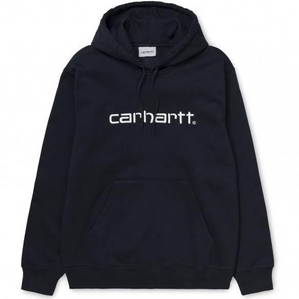 Carhartt Hooded Sweatshirt Dark Navy White