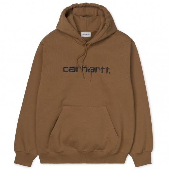 Carhartt Sweatshirt Hooded Hamilton Brown White
