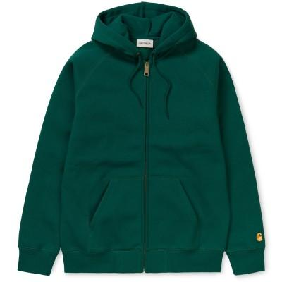 Carhartt Casaco Hooded Chase Dark Fir