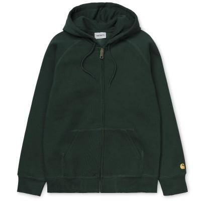 Carhartt Hooded Chase Jacket Bottle Green