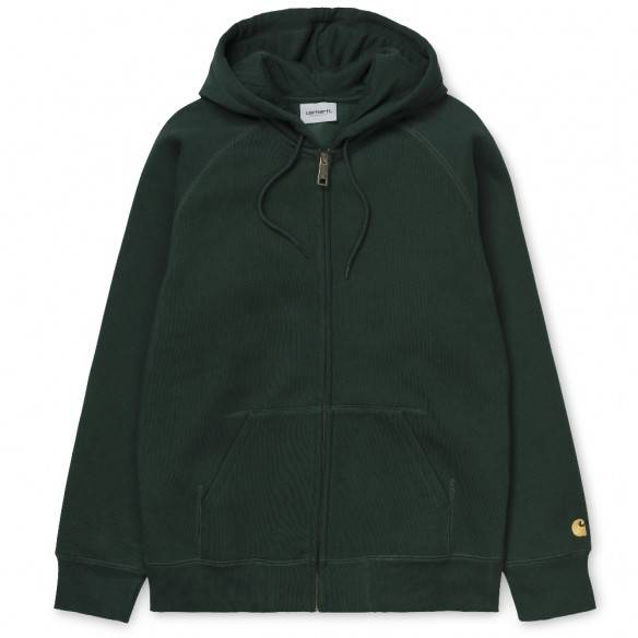 Carhartt Casaco Hooded Chase Bottle Green