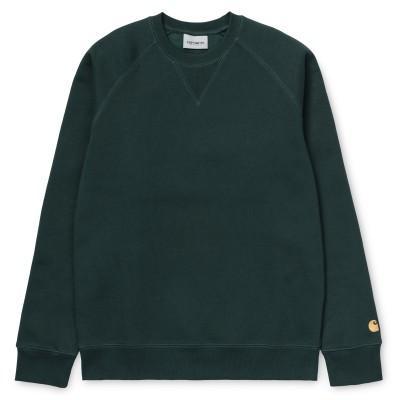 Carhartt Sweatshirt Chase Dark Fir