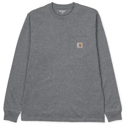 Carhartt LS T-Shirt Pocket Dark Grey Heather