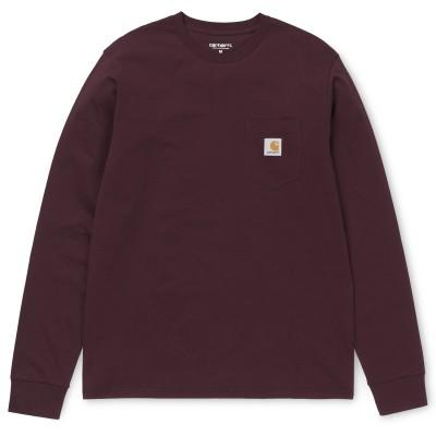 Carhartt T-Shirt LS Pocket Cranberry