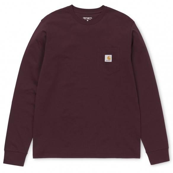 Carhartt LS T-Shirt Pocket Cranberry