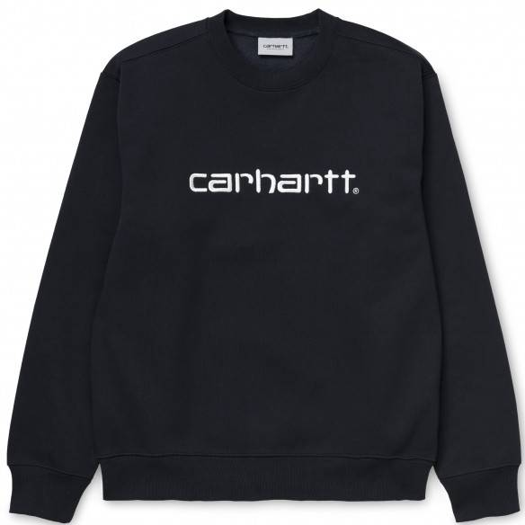Carhartt Sweatshirt Dark Navy White