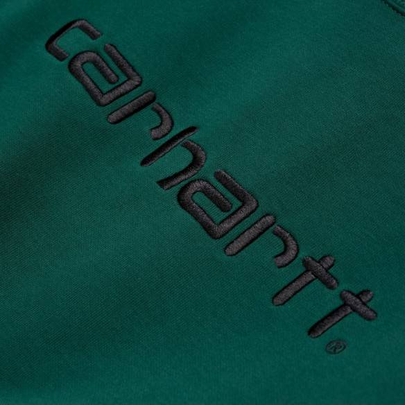Carhartt Sweatshirt Dark Fir Black