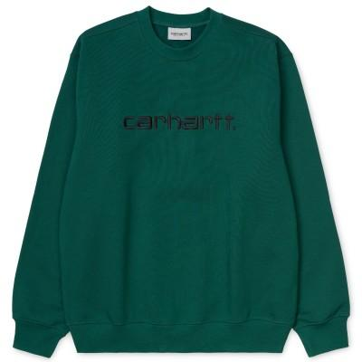 Carhartt Sweatshirt Dark Fir Black