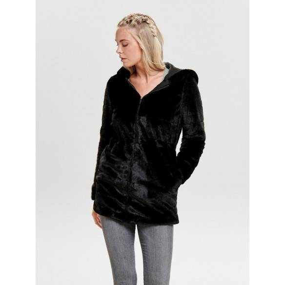 Only Chris Fur Jacket Black