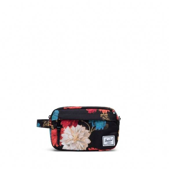 Herschel Chapter Travel Kit Carry On Vintage Flower Black