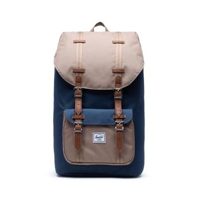 Herschel Mochila Little America Navy Pine Bark Tan