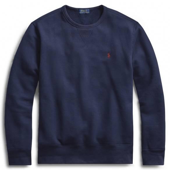 Polo Ralph Lauren Sweatshirt Fleece Crewneck Navy